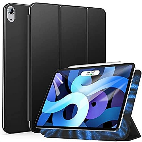 ZtotopHülle Magnetische Schutzhülle für iPad Air 4 10.9, Ultra Slim Smart Magnetic Back Trifold Stand Schutzhülle mit Auto Wake/Sleep, für iPad Air 4 10.9 Zoll 2020 und iPad Pro 11 Zoll 2018, Schwarz