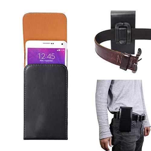 GUOQING Funda de piel con clip para cinturón para iPhone 11 XR, clip para cinturón, funda para Samsung Galaxy Note10, S10, S20, S9, S8, S7 Edge