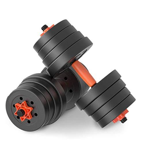 HUJPI Verstellbare Hantel, Hantelset mit Pleuelstangen Paarweise verkauft für Krafttraining Home Gym,10kg*2