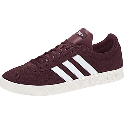 adidas VL Court 2.0', Zapatillas Hombre, Rojo (Granat/Ftwbla/Blanub 0), 44 EU