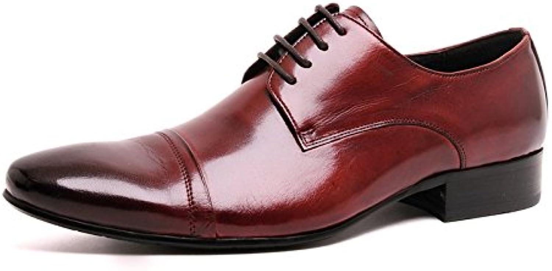 Santimon Men's Cap Toe Pointed Toe Oxfords Dress shoes