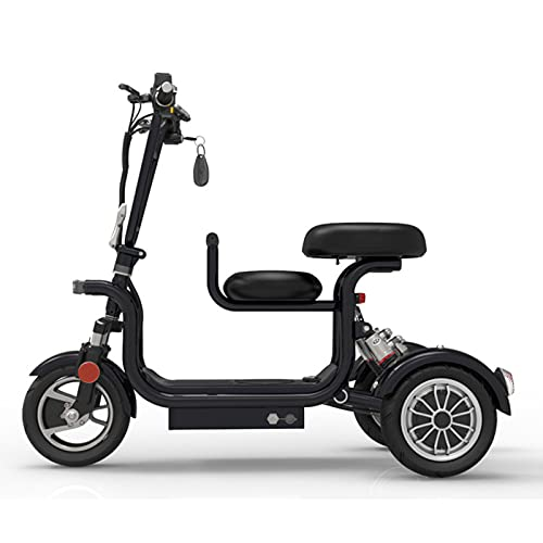 Scooters De Movilidad Eléctricos Plegables Y Ligeros con Batería De Litio, Silla De Ruedas Eléctrica De Viaje Fácil, Scooter Multiterreno para Adultos con Asiento para Niños - Scooters De 3 Ruedas
