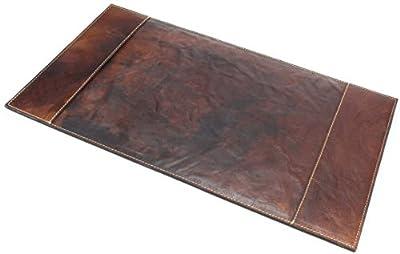 """ALPENLEDER Leather Desk Pad - Rectangle Desk Blotter - 20.5"""" x 11.4"""" Desk Mat - Ideal Desk Protector Home & Office"""