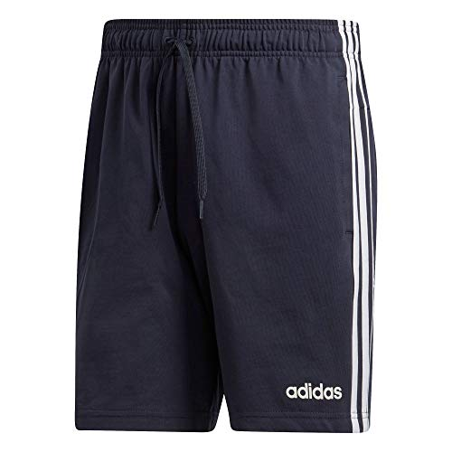 adidas Essentials 3 Stripes Short Single Jersey, Pantaloncini Uomo, Legend Ink/Bianco, S