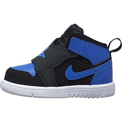 Nike Baby Jungen Sky Jordan 1 (TD) Sneaker, Mehrfarbig (Black/Hyper Royal-White 004), 23.5 EU