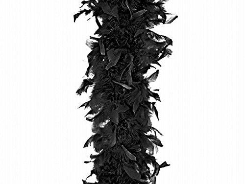LCN Boa Echarpe Plume Deguisement Carnaval Synthetique 180cm Noir - 518