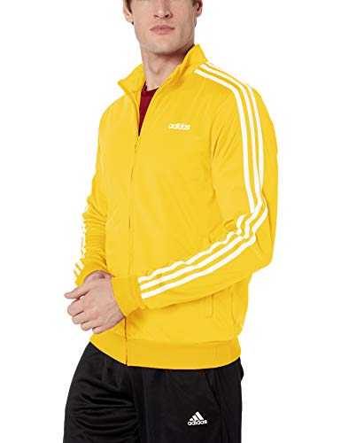 adidas Men's Essentials 3-Stripes Tricot Track Jacket, Active Gold, XX-Large