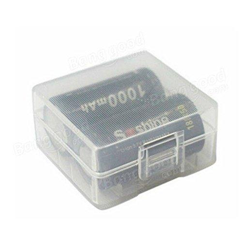 Global Weiß Hard Kunststoff Batterie Case Box für 2x 18350Akku