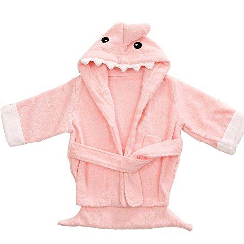FAVOLOOK FAVOLOOK Baby Jungen (0-24 Monate) Bademantel Gr. XS, Pink Shark