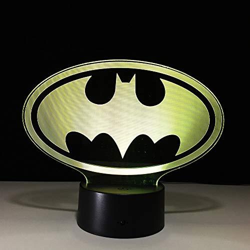 Superhelder pictogram 3D-lamp bedlampje, nachtlampje voor de kinderkamer, led-lamp voor de woonkamer, perfect cadeau voor kinderen