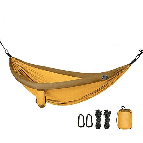 MAATCHH Jardín Hamaca de Camping Interior al Aire Libre oscilación Que acampa Ligero de Dormir Hamaca con Asas portátil Ultra Ligero Portátil para al Aire Montañismo Viajes (Color : Yellow)
