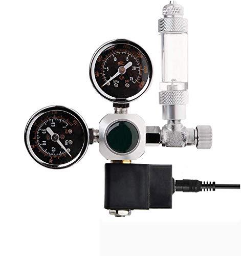 OrangeClub Druckminderer CO2 Variante Mehrweg mit fest verbauten Magnetventil und Rückschlagventil Nadelventil Aquarium Nachtabschaltung W21.8 Interface