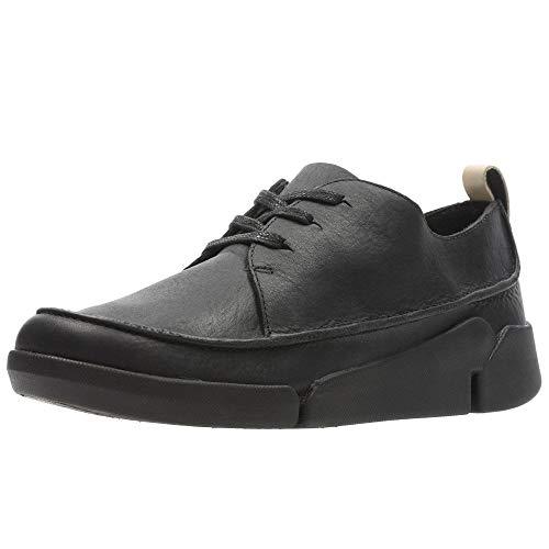 Clarks Tri Clara, Zapatos de Cordones Derby para Mujer, Negro (Black Leather), 37 EU