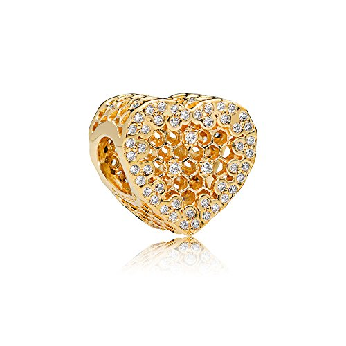 PANDORA Honeycomb Lace Charm, Shine 767039CZ