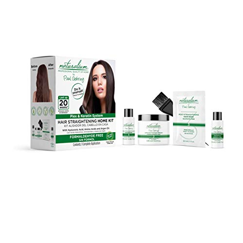 Hair Straightening Home Kit by Naturalium Professional Quality at Home | Advanced Plex and Keratin Hair Treatment Technology | Complete Hair Treatment Kit | Easy 6-Step Application