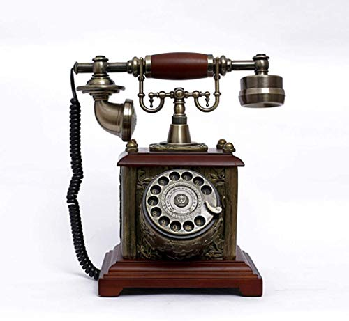 SXRDZ Vintage Retro Phone Rotary Dial Telephone Fixed-line Push-button Retro Telephone With Classic Metal Bell Ringer With Rotary Dialler