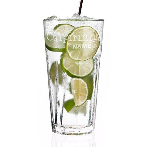 Herz & Heim® Caipirinha Glas mit Gravur des eigenen Namens