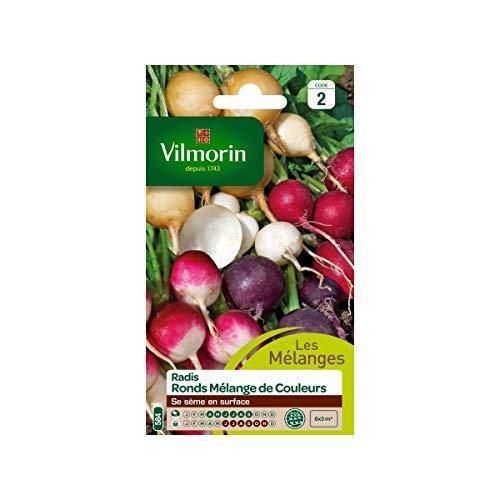 Vilmorin - Sachet graines Radis ronds melange de couleurs