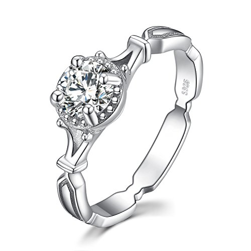 JewelryPalace 1ct Radiant Cut Zirkonia 3 Stein Ehering Verlobungsring Sets 925 Sterling Silber