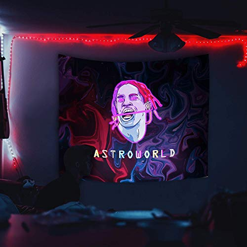 Travis Scott 3D-Black Light Tapestry Wall Hanging Decor 50x50 inches - Astroworld Poster
