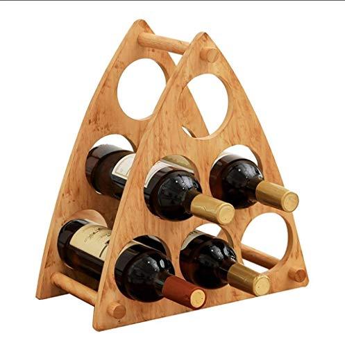 Gama alta Estante de vino del estante de vino, estante de vino de madera maciza, decoración de la sala de estar en el hogar, estante de vino del restaurante, botella de vino Tamaño: 35.5 ** 21 * 39cm