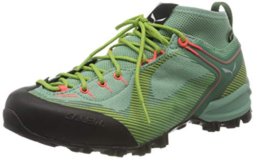 Salewa Damen WS Alpenviolet Gore-TEX Trekking- & Wanderstiefel, Feld Green/Fluo Coral, 41 EU