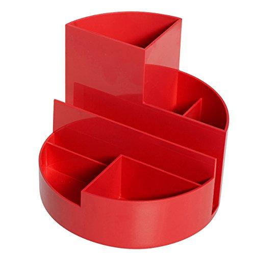 Maul Stifteköcher, Original Rundbox, 7 Fächer, Rot, 140x125 mm (Ø x H), Hochglänzend, 4117625, 1 Stück