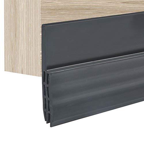 ドア テープ 隙間 シリコーンゴム製 ドアストリップ 自己粘着性 窓 ドアのギャップ ドアの裏側 シール 防風 防音 防水 毛足 5*100cm ブラック