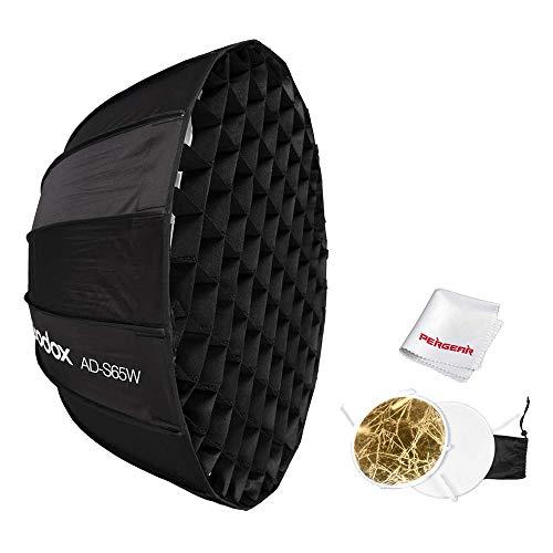 GODOX Mount Quick Setup Regenschirm Softbox AD-S65W, mit Wabengitter, Spezialzubehör für Godox AD300Pro und AD400Pro (65 cm, Innenweiß)