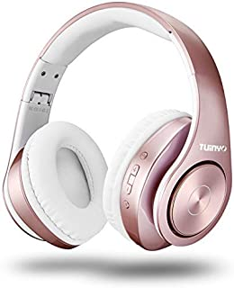 TUINYO - Auriculares Bluetooth, color rosa