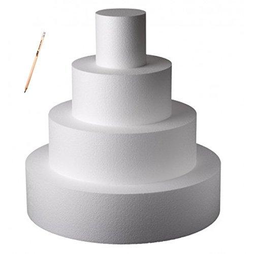 Poliart Cake Mania Base per Torta Circolare in POLISTIROLO H 10 CM Diametro Varie Misure (Diametro 15 cm)