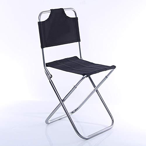 SAVRSFFDG Portable Folding Stool, Outdoor Fold Up Lightweight Camp Aluminium Stools Seat Padded Folding Chair - Plain, Lightweight, Portable - Best for Picnics, Garden