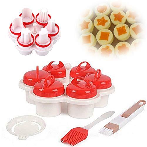 LINPING 6PCS Egglettes Cooker Pancake Maker Form Eierformer Omelett Antihaft-Werkzeug