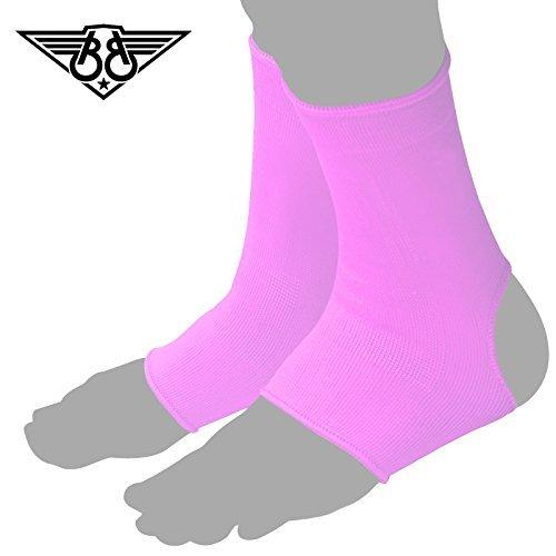 Boom Pro Pink Ladies Tobillo Apoyo Brace Pie Guardia Muay Thai y Kickboxing Tobilleras MMA Artes Marciales Pantalla