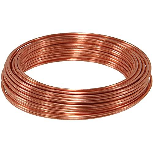 AIMIMI Alambre de cobre resistente al desgaste, flexible, fácil de usar, alambre de esculpir para hacer joyas, muñecas, esqueletos, manualidades (3 pies), 3 mm