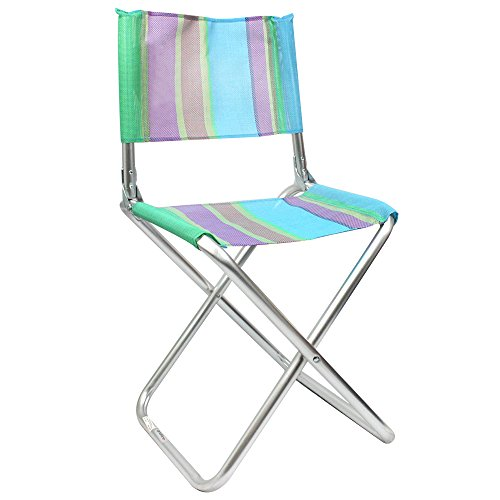 com-four® Klappstuhl - Campingstuhl aus Aluminium - klappbarer Regiestuhl in tollen Farben für Camping, Angeln, Outdoor etc. (01 Stück - blau/grün/lila)