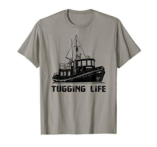 Ship Tugboat T-Shirt, Tugging Life Towboat Tee Apparel