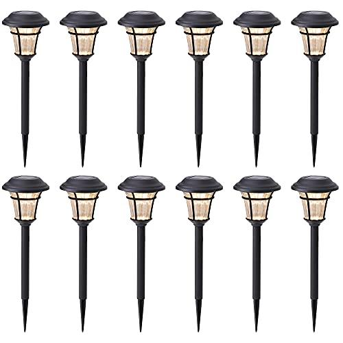 MAGGIFT 12 Pack Solar Pathway Lights Outdoor Solar Garden Lights for Patio, Yard, Driveway