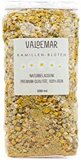 Valdemar Manufaktur Premium KAMILLE-Blüten, 500ml Kamillen-Tee - HANDVERPACKT In Deutschland