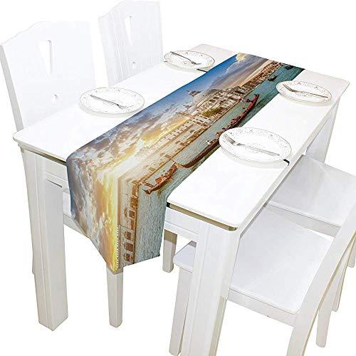 sunnee-shop tafelloper, stijlvolle romantische Italiaanse zonsondergang-tafelkleed-loper-koffiemat