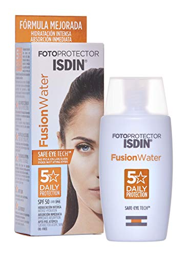 Fotoprotector ISDIN Fusion Water SPF 50 50ml | Fotoprotettore viso per uso quotidiano | Texture ultraleggera