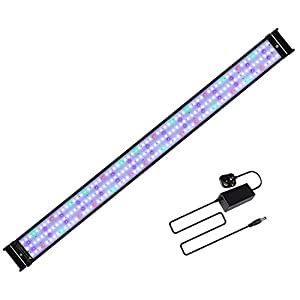 JOYHILL LED Full Spectrum Aquarium Lights, Fish Tank Light with Extendable Brackets,Suitable for Aquatic Reef Coral Plants and Fish Keeping 38W (Fit 116cm-136cm/46-54 inch)