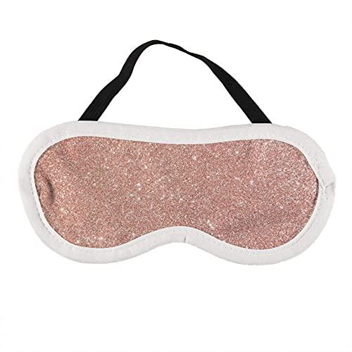 Máscara de ojos de oro rosa con purpurina rosa para dormir rosa dorado brillante brillante máscara de sueño rosa regalo para él máscara de dormir