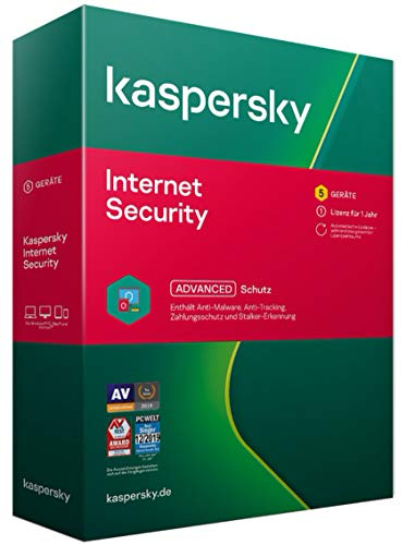 Kaspersky Internet Security 2021 Standard | 5 Geräte | 1 Jahr | Windows/Mac/Android | Aktivierungscode in Standardverpackung