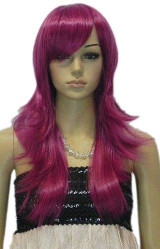 Qiyun Longue Raide Violet Layered Resistant a la Chaleur Fibre Synthetique Cheveux Cosplay Anime Costume Perruque