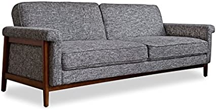 Edloe Finch Mid-Century Modern Futon Sofa Bed Sleeper, Grey