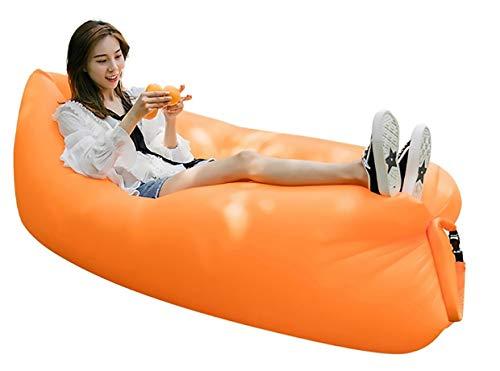 MASMAS Sofá Inflable Portátil Hamaca Hinchable Impermeable,Bolsa de Dormir, Cama Inflable Cómoda Tumbona para Viajes, Camping, Playa, Parque