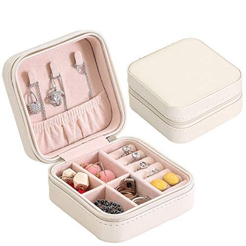 Dreamfly Joyero, organizador de joyas para mujer, de piel sintética, para guardar joyas, para pendientes, pulseras, anillos, relojes