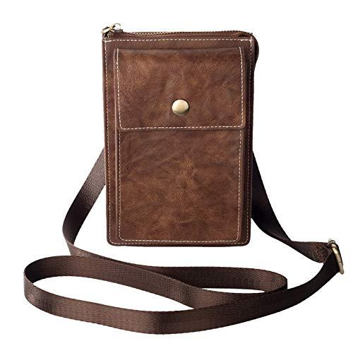 Bandoleras de cuero para hombre, funda para cinturón y cinturón, bolsa de cintura para Samsung Galaxy Note 10 Lite S10 Lite Note 10 + Note 10 9 8 5 S20/S20 Ultra/S9/S8 Plus (color: marrón)