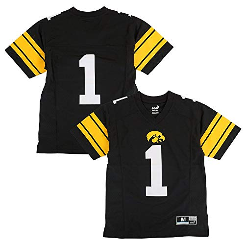 Outerstuff Iowa Hawkeyes NCAA Youth #1 Home Black Football Jersey